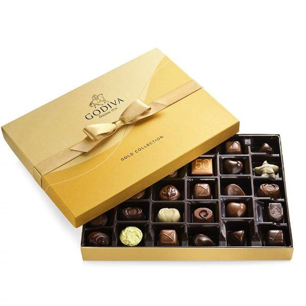 经典金色混合巧克力礼盒 36颗装