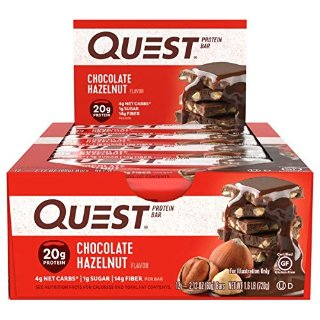 $13.20 包邮Quest Nutrition 蛋白能量棒 巧克力榛果口味 12条