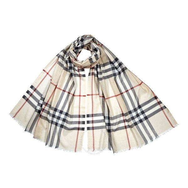 经典款羊毛真丝围巾
