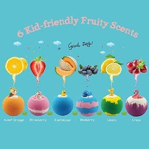 儿童卡通造型6个装香氛精油泡澡球