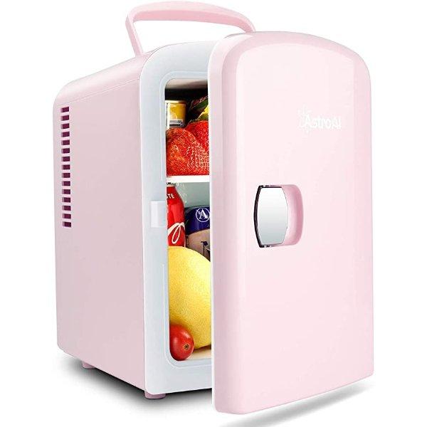 便携式迷你小冰箱4升 粉色
