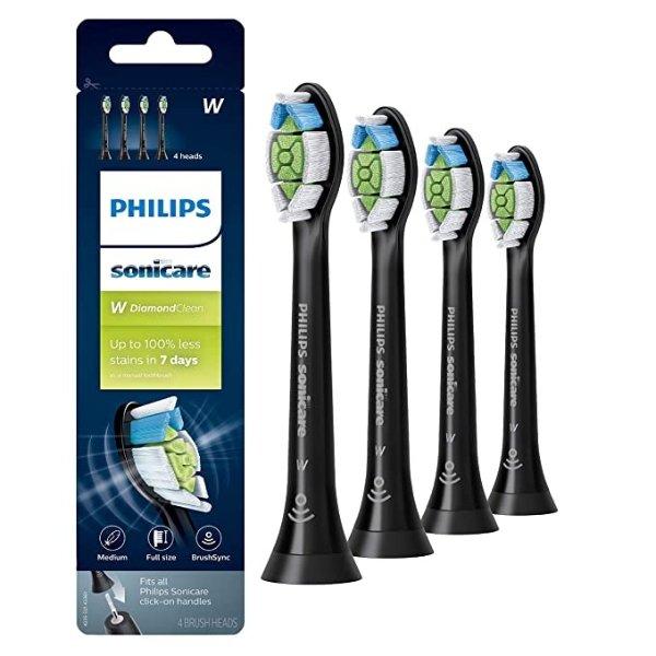 Philips 钻石电动牙刷替换头 4个 黑色