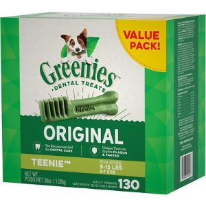 GreeniesTeenie Dental Dog Treats, 130 count - Chewy.com
