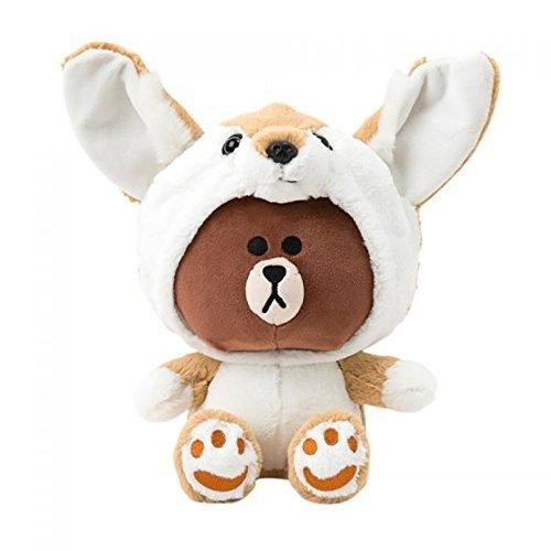 布朗熊 狐狸造型公仔