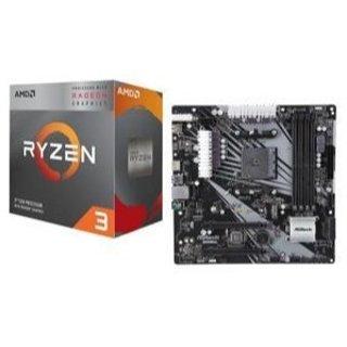 $124.98 再降价AMD RYZEN 3 3200G APU + ASRock B450M/AC 主板套装