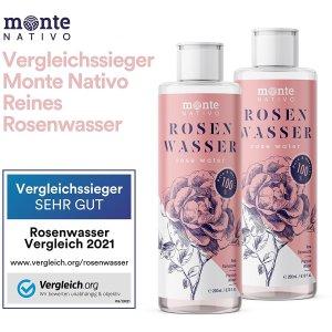 2瓶仅€14.95 湿敷小帮手MonteNativo 玫瑰水 100%天然玫瑰蒸馏水 提亮肤色 缩小毛孔