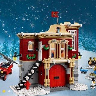 $99.99包邮 送$10积分LEGO乐高官网 2018圣诞 冬日消防站10263,上市以来好折扣