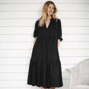 低至5折 Veja小白鞋$76The White Company 年中大促 封面有机棉连衣裙$69
