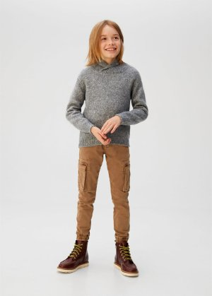 Camp-collar knit sweater -  Boys | Mango Kids USA