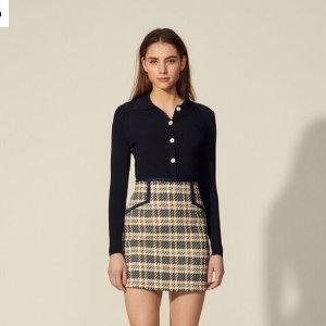 4折起 £79收经典小香风半身裙Sandro官网 女团风短裙大促 收优雅小香风