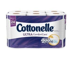 $5.68 (原价$9.99)Cottonelle Ultra 12卷双层超舒适卫生纸