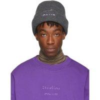 Acne Studios Grey & Purple Reed Beanie帽子