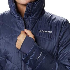 小码特价$55.84Columbia Mighty半长女款连帽保暖外套