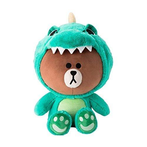 布朗熊 恐龙造型公仔