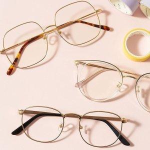 第2副眼镜享5折 或全单8折 无需处方最后一天:Eyebuydirect 玫瑰金金属细边眼镜 时尚精致女孩必备