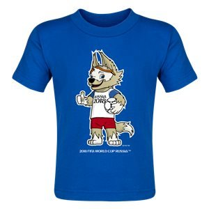 2018 FIFA World Cup™ Russia Zabivaka™ Mascot Toddler T-Shirt (Royal)