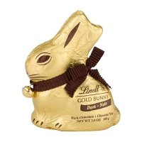 Lindt 黑巧克力兔子