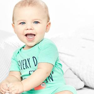 2.4折起+满$25送$10上新:Carter's官网 年度顶给力婴幼儿服饰大促,有机棉加入