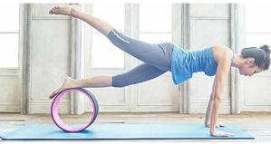 史低价$12.46(原价$18.69)BalanceFrom GoYoga 防滑耐磨防水瑜伽垫+便携带 紫色