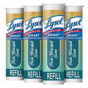 $11.47补货:Lysol Smart 多功能清洁消毒喷雾补充剂,4只