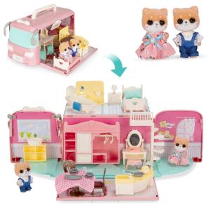 $33.24+包邮 50+配件折扣升级:BCP 休旅车变身娃娃屋玩具套装,男生女生都能玩