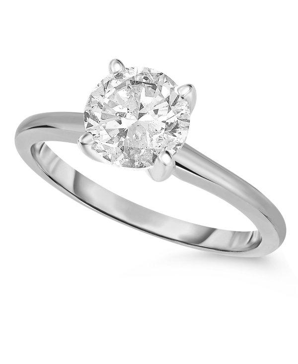 (1 ct. t.w.) 14K白金钻石戒指