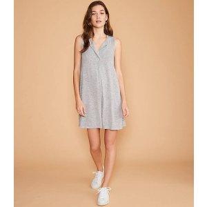 LOFTLou & Grey Split Neck Swing Dress   LOFT
