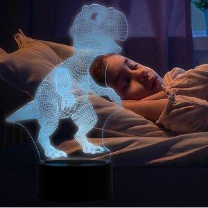 4折 超萌的床头小灯暖心收3D 立体恐龙小夜灯 可变换颜色