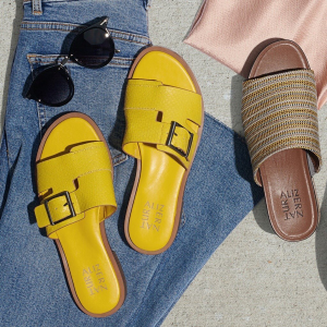额外7.5折+限时免邮Naturalizer 夏日凉鞋大促,$29收平底拖、简约凉鞋