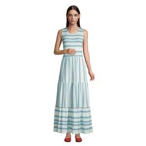 Lands' EndWomen's Sleeveless Tiered Maxi Dress