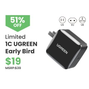 UGREENAll in One 65W 4Port 3C1A GaN PD Charger