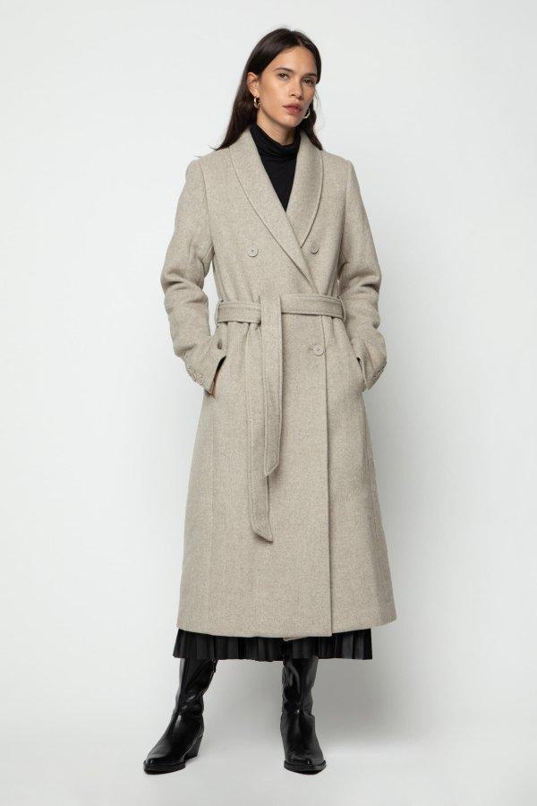 浴袍式风衣
