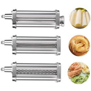 $93.49(原价$147.99)AirPro KitchenAid 厨师机专用 面条/压面切面器配件3件套