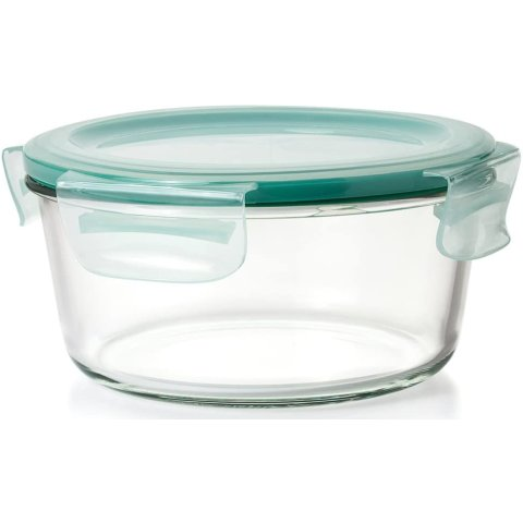 OXO Good Grips 7 Cup Smart Seal Leakproof Glass Round Food Storage Container