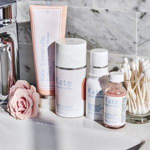 Receive a free travel size ExfoliKate Trio + surprise sneak peek of Kate's newest ExfoliKate  roduct ($74 value)With any $65 purchase @ Kate Somerville