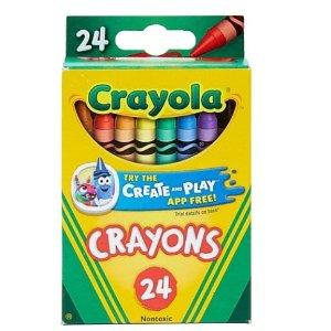$0.5 包邮Crayola 24色蜡笔