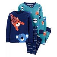 小童全棉动物睡衣四件套