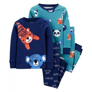Carter's4-Piece 100% Snug Fit Cotton PJs