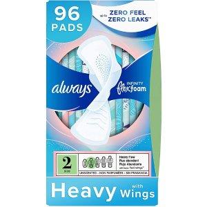 always第二件半价 平均4.40/盒Size 2 大流量液体卫生巾 96片