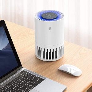折后€59 带氛围灯和触控面板TaoTronics 桌面空气净化器热促 三层过滤 享受清新空气
