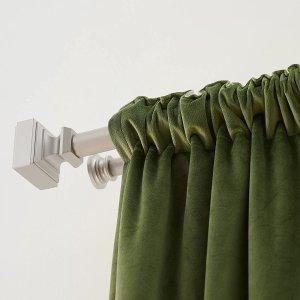 $30.64(原价$60.49)AmazonBasics 72-144英寸加长 时尚镀镍 双层窗帘杆
