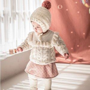 3折起+变相额外7折独家:Imarya Kids 节日小宝贝 收可爱纯棉家居套装、兔耳朵卫衣