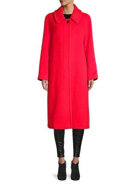 羊毛羊绒混纺大衣