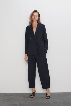 STRIPED WIDE LEG PANTS - BLAZERS-WOMAN | ZARA United States