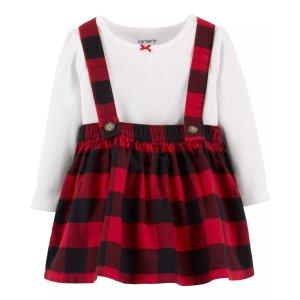 Carter's2-Piece Holiday Bodysuit & Skirtall Set