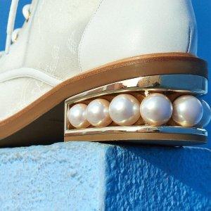 低至6折Nicholas Kirkwood女士鞋履  经典尖头乐福鞋,珍珠跟