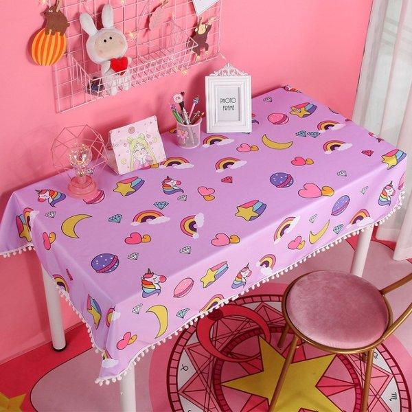 爱心彩虹桌布 100*70cm