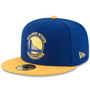 Men's Golden State Warriors New Era Royal/Gold Official Team Color 2Tone 59FIFTY Fitted Hat