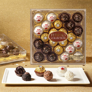 $10.88 Ferrero Collection Fine Assorted Confections , 24 Count Gift Box, 9.1 oz.