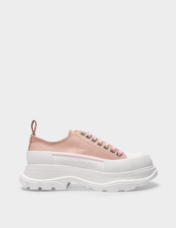 帆布厚底鞋